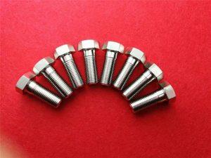 Nerezový klinový šroub Stee304 / Šroub se šestihrannou hlavou Ss 304 Příhradový šroub s hlavou