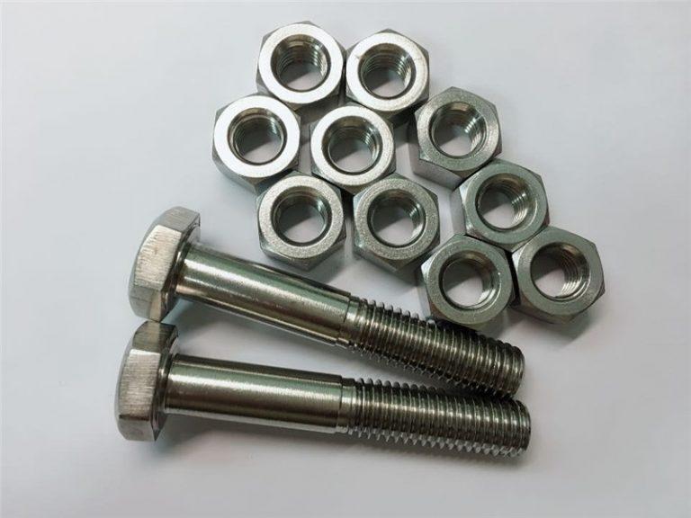 slitina 20 šroubů a matic z nerezové oceli upevňovací n08020