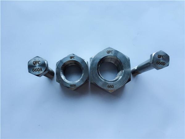 slitiny 660 šestihranné šrouby a matice, upevňovací prvky din1.4980