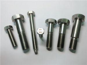 No.25-Incoloy a286 šestihranné šrouby 1.4980 a286 upevňovací prostředky gh2132 hardware z nerezavějící oceli hardware strojní šroubové upevnění