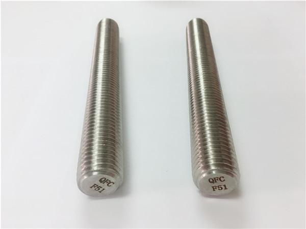 spojovací prvky z ušlechtilé oceli duplex2205 / s32205 din975 / din976 se závitovými tyčemi f51