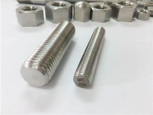Č. 82-F55 Zeron100 spojovací materiál z nerezové oceli s plným závitem, tyč S32760