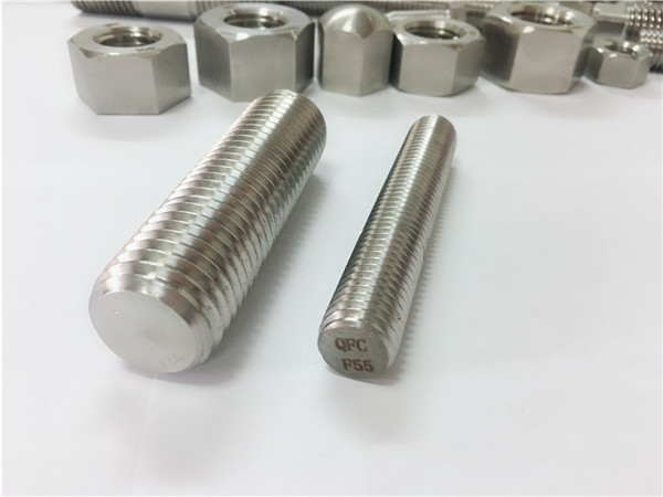 Spojovací materiál z nerezové oceli f55 / zeron100 s plnou závitovou tyčí s32760