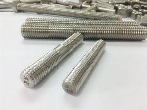 nerezové oceli s automatickým opracováním spojovacích prvků s dvojitým koncem se závitem
