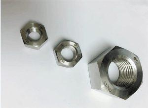 Dvoubarevná matice M20 z nerezové oceli Duplex 2205 / F55 / 1.4501 / S32760