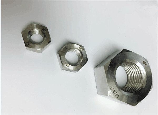 duplex 2205 / f55 / 1.4501 / s32760 spojovací materiál z nerezové oceli těžká šestihranná matice m20